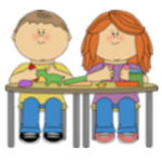 A boy and girl sitting on a table playing with playdough